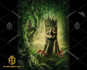 عکس با کیفیت آدمک درختی مناسب برای طراحی و چاپ - عکس آدمک - تصویر آدمک - شاتر استوک آدمک - شاتراستوک آدمک