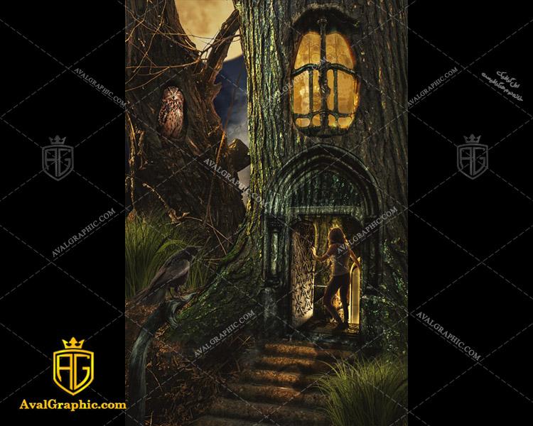 عکس با کیفیت قلعه درختی مناسب برای طراحی و چاپ - عکس قلعه - تصویر قلعه - شاتر استوک قلعه - شاتراستوک قلعه