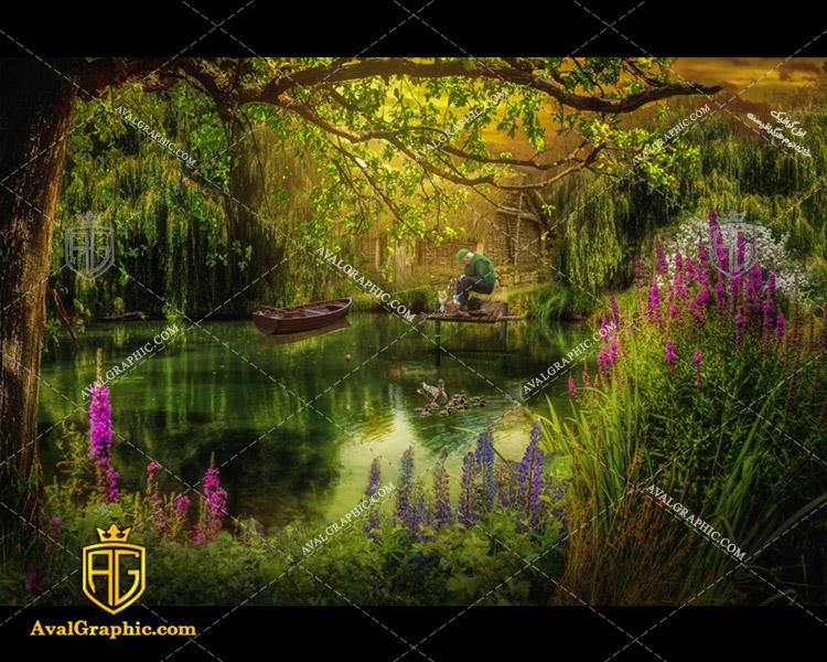 عکس با کیفیت جنگل رویایی مناسب برای طراحی و چاپ - عکس جنگل - تصویر جنگل - شاتر استوک جنگل - شاتراستوک جنگل