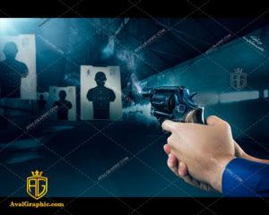 عکس با کیفیت تفنگ هفت تیر مناسب برای طراحی و چاپ - عکس تفنگ - تصویر تفنگ - شاتر استوک تفنگ - شاتراستوک تفنگ