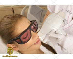 عکس با کیفیت لیزر پوست صورت مناسب برای طراحی و چاپ - عکس لیزر - تصویر لیزر - شاتر استوک لیزر - شاتراستوک لیزر