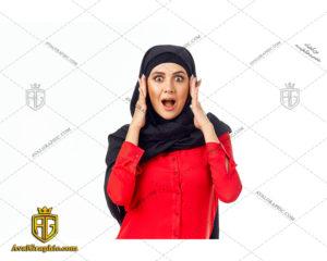 عکس با کیفیت خانم متعجب با حجاب مناسب برای طراحی و چاپ - عکس خانم متعجب - تصویر خانم متعجب - شاتر استوک خانم متعجب - شاتراستوک خانم متعجب