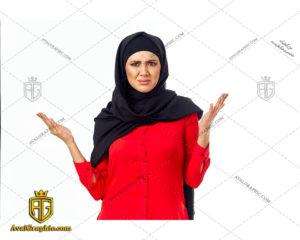 عکس با کیفیت خانم با حجاب ناراحت مناسب برای طراحی و چاپ - عکس خانم با حجاب - تصویر خانم با حجاب - شاتر استوک خانم با حجاب- شاتراستوک خانم با حجاب