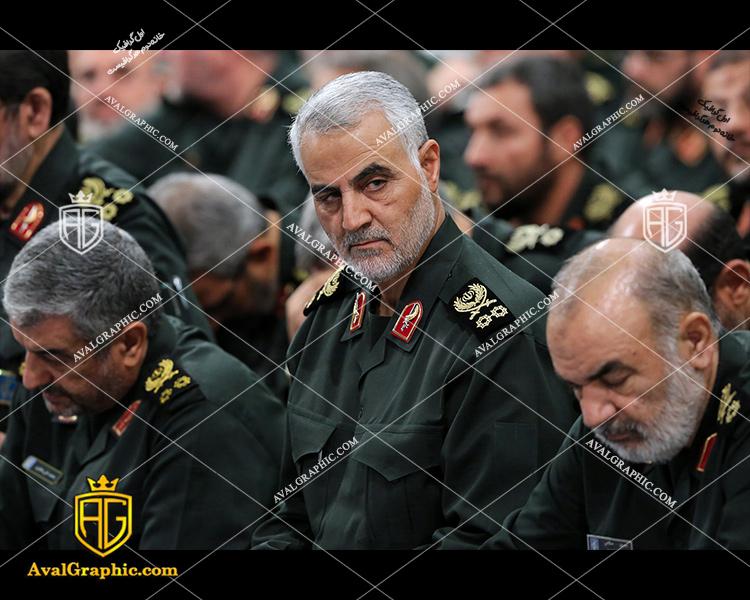 شاتر استوک سردار سلیمانی با لباس نظامی