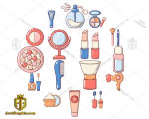 وکتور وسایل آرایشی و بهداشتی دانلود وکتوروسایل آرایشی و بهداشتی، تصاویر برداری و طرح های برداری مناسب برای طراحی و چاپ