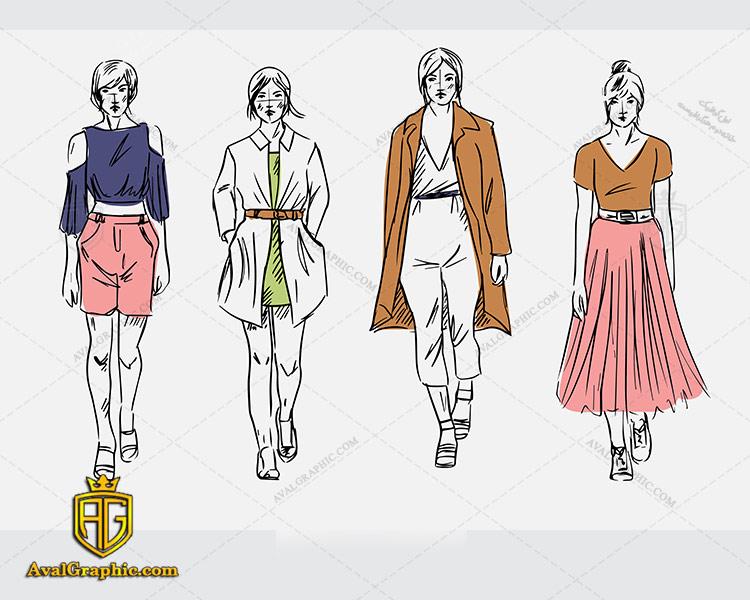 وکتور لباس دامن و پالتو - دانلود وکتور لباس زنانه، تصاویر برداری و طرح های برداری مناسب برای طراحی و چاپ