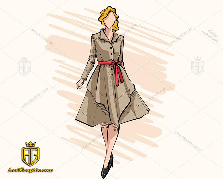 وکتور لباس جشن قهوه ای - دانلود وکتور لباس زنانه، تصاویر برداری و طرح های برداری مناسب برای طراحی و چاپ
