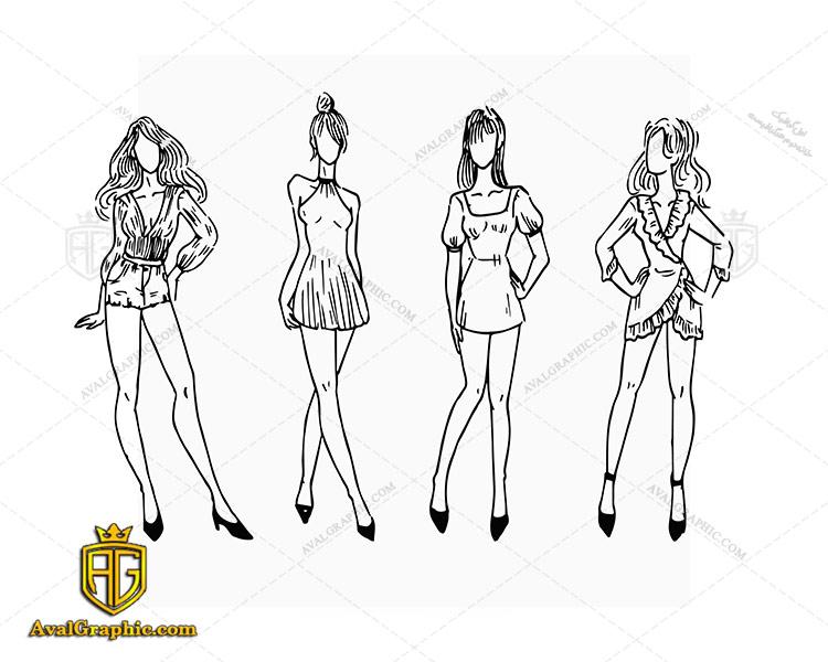 وکتور لباس کوتاه زنانه - دانلود وکتور لباس زنانه، تصاویر برداری و طرح های برداری مناسب برای طراحی و چاپ