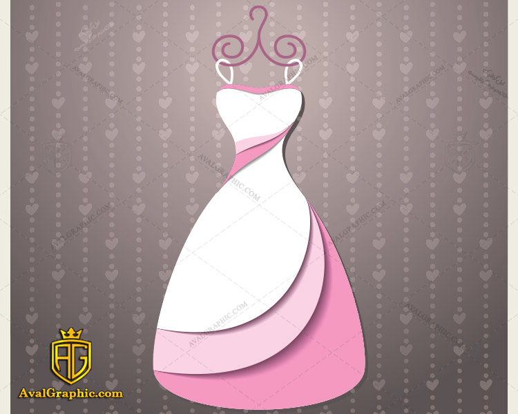 وکتور لباس صورتی و سفید - دانلود وکتور لباس زنانه، تصاویر برداری و طرح های برداری مناسب برای طراحی و چاپ