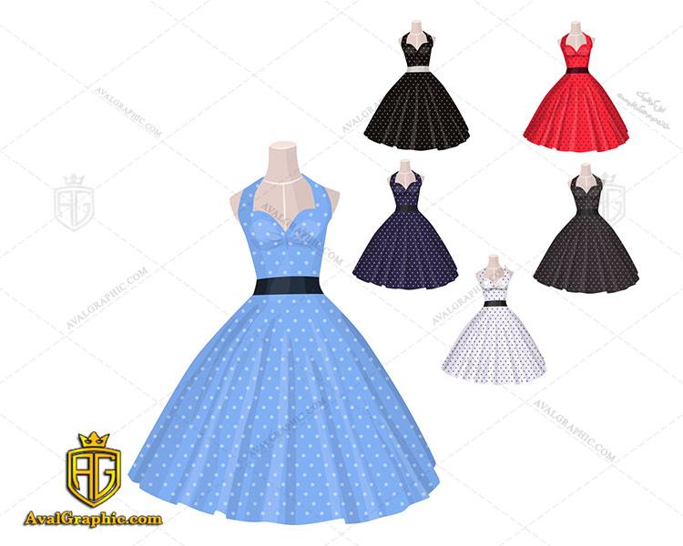 وکتور لباس زنانه مجلسی رنگی - دانلود وکتور لباس زنانه، تصاویر برداری و طرح های برداری مناسب برای طراحی و چاپ
