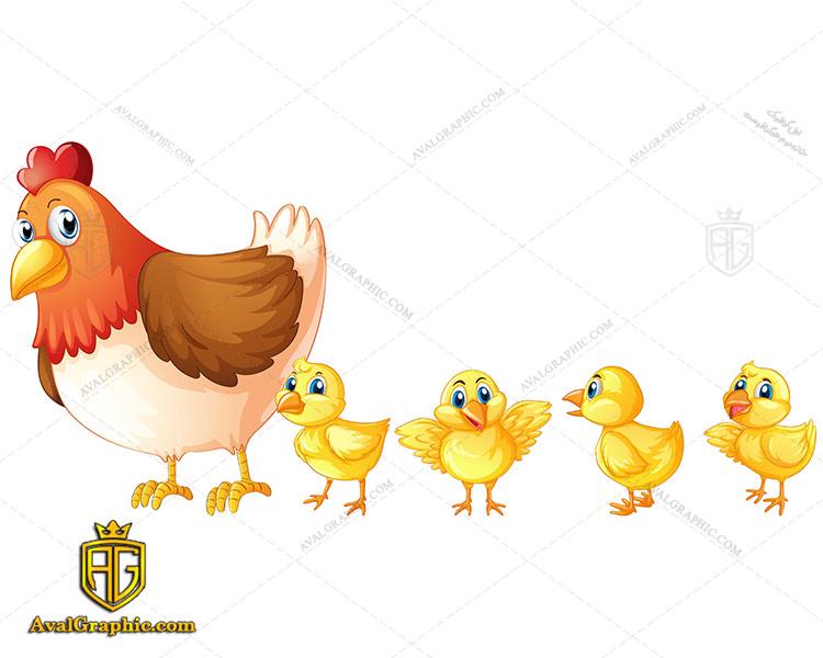 وکتور مرغ و تعدادی جوجه - دانلود وکتور مرغ، تصاویر برداری و طرح های برداری مناسب برای طراحی و چاپ