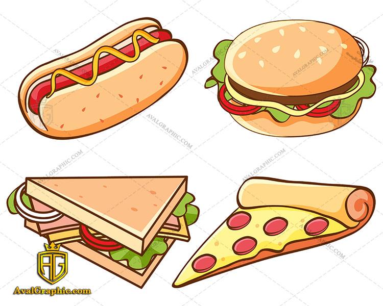 وکتور پیتزا و ساندویچ هات داگ - دانلود وکتور پیتزا، تصاویر برداری و طرح های برداری مناسب برای طراحی و چاپ