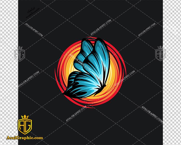 وکتور پروانه و خورشید - دانلود وکتور پروانه، تصاویر برداری و طرح های برداری مناسب برای طراحی و چاپ