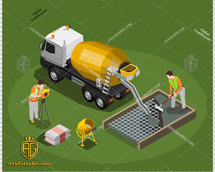 وکتور ماشین حمل سیمان - دانلود وکتور ماشین، تصاویر برداری و طرح های برداری مناسب برای طراحی و چاپ