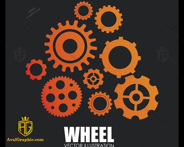وکتور چرخ دنده زرد و نارنجی - دانلود وکتورچرخ دنده، تصاویر برداری و طرح های برداری مناسب برای طراحی و چاپ