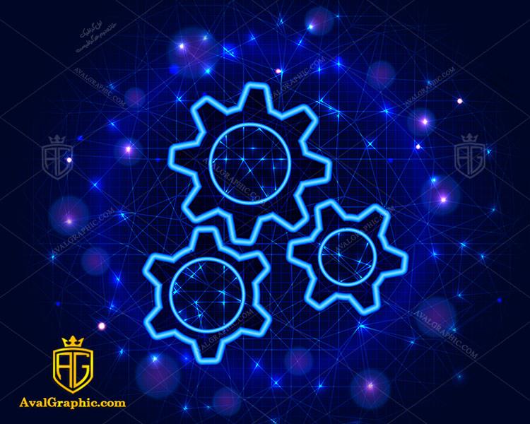وکتور چرخ دنده طرح نئون - دانلود وکتورچرخ دنده، تصاویر برداری و طرح های برداری مناسب برای طراحی و چاپ