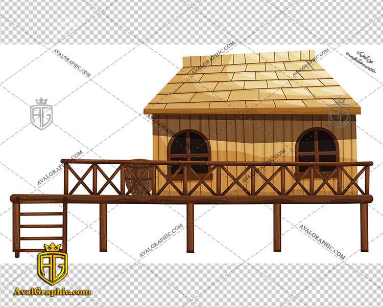 وکتور خانه چوبی ساحلی - دانلود وکتور خانه، تصاویر برداری و طرح های برداری مناسب برای طراحی و چاپ