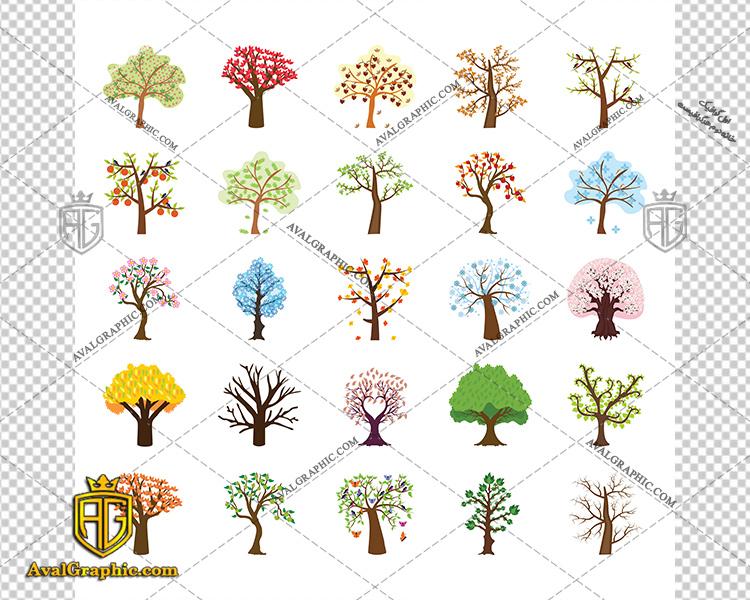 وکتور درخت گرافیکی فصلی - دانلود وکتور درخت، تصاویر برداری و طرح های برداری مناسب برای طراحی و چاپ