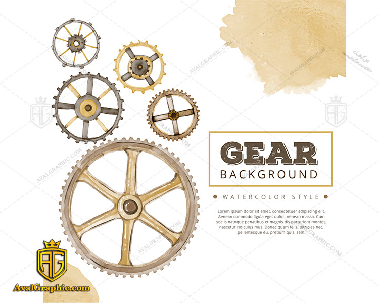 وکتور چرخ دنده طرح آبرنگ - دانلود وکتورچرخ دنده، تصاویر برداری و طرح های برداری مناسب برای طراحی و چاپ