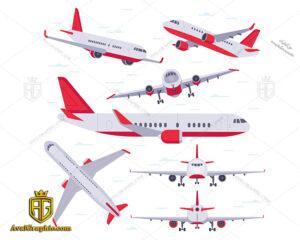 وکتور هواپیما قرمز دانلود وکتور هواپیما قرمز ، تصاویر برداری و طرح های برداری مناسب برای طراحی و چاپ