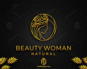 لوگو آرایشگاه زنانه زرد رنگ