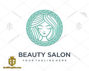 لوگو آرایشگاه زنانه طرح هنری