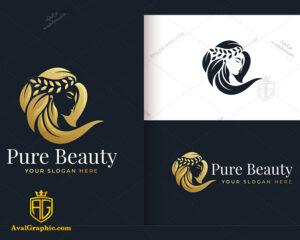 لوگو آرایشگاه زنانه و موهای بلند زیبا