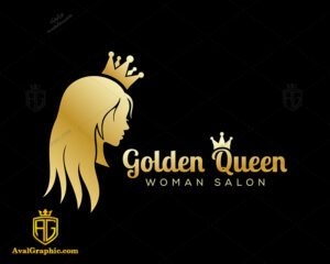 لوگو آرایشگاه زنانه و ملکه طلایی