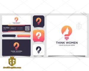 لوگو آرایشگاه زنانه با طرح لامپ