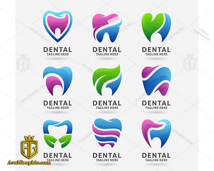 مجموعه لوگو لایه باز دندانپزشکی
