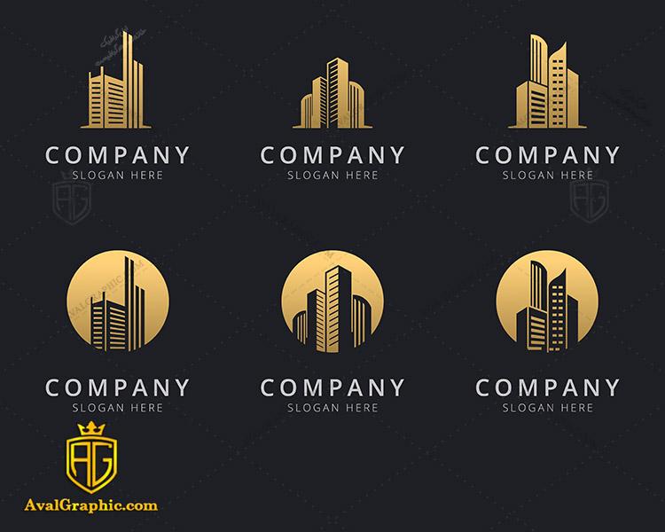 لوگو شرکت ساختمانی با طراحی مدرن