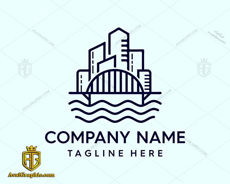 لوگو شرکت ساختمانی و نمای شهری