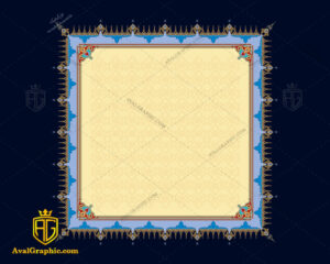 وکتور اسلیمی طرح مربع