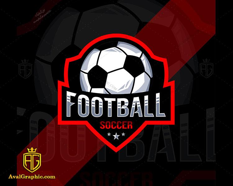 لوگو فوتبال با کادر قرمز