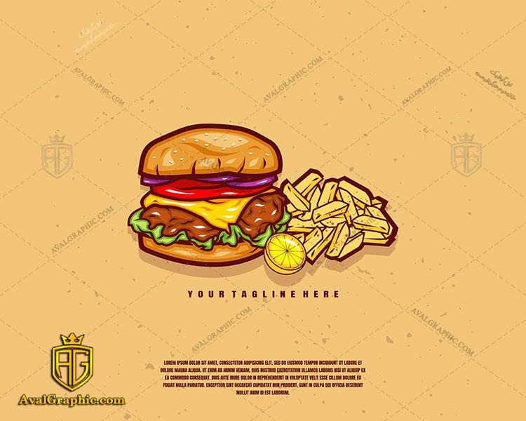 طراحی لوگو ساندویچ حجیم