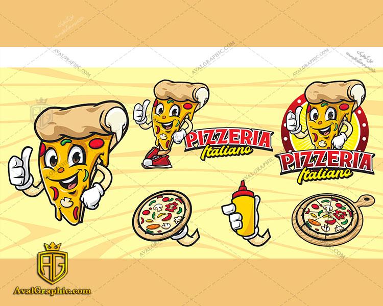 طراحی لوگوی پیتزا ایتالیایی