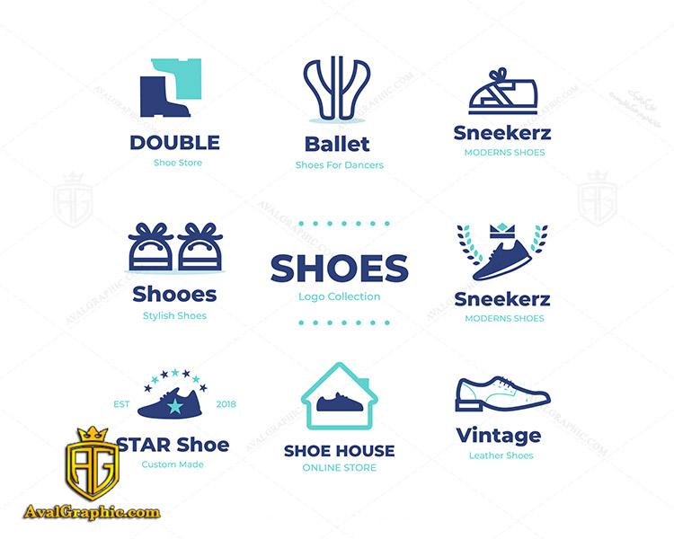 لوگو کفش فروشی و خانه کفش