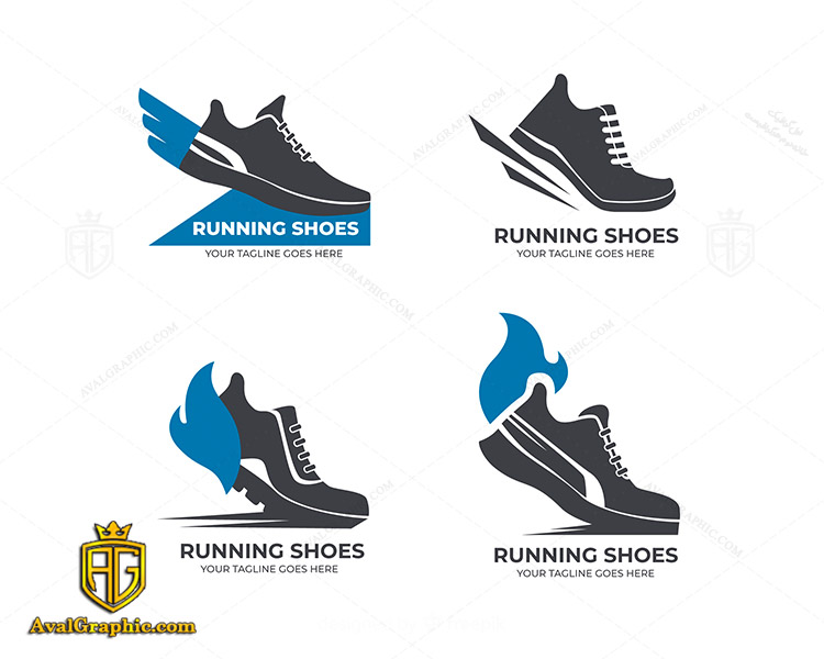 لوگو کفش فروشی دو رنگ