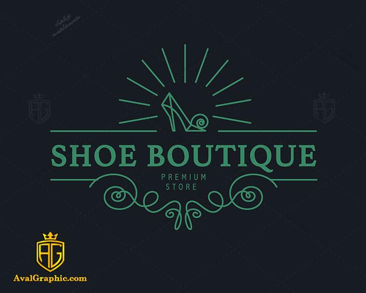 لوگو کفش فروشی سبز رنگ