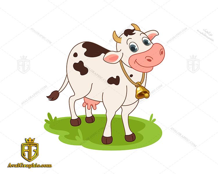 لوگو لبنیات و گاو ماده