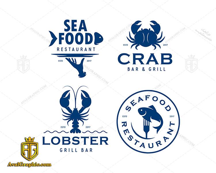 لوگو ماهی فروشی و خرچنگ