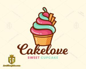 لوگو و آیکون کیک تولد