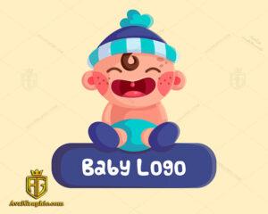 نمونه لوگو لایه باز نوزاد