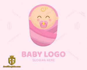لوگو نوزاد دختر