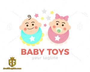 لوگو نوزاد و اسباب بازی