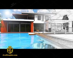 عکس با کیفیت خانه مدرن مناسب برای طراحی و چاپ - عکس مهندس - تصویر مهندس - شاتر استوک مهندس - شاتراستوک مهندس